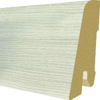 PlintaMDFEgger60x17mm,2,4m,culoarePinInvereyAlb