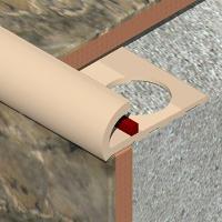 ETP120-Bagheta Genesis colt exterior 12mm semirotunda PLUS din PVC
