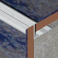 LDA105-Protectie treapta ceramica LINECO din aluminiu eloxat,10mm