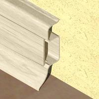 PBC505-Plinta PROLUX din PVC culoare fag deschis pentru parchet 50mm