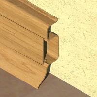 PBC505-Plinta PROLUX din PVC culoare stejar inchis pentru parchet 50mm