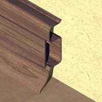 PBC505-Plinta PROLUX din PVC culoare wenge pentru parchet 50mm