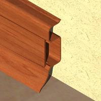 PBC505-Plinta PROLUX din PVC culoare cires inchis pentru parchet 50mm