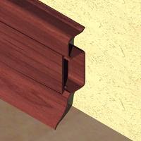 PBC505-Plinta PROLUX din PVC culoare mahon pentru parchet 50mm