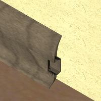PBC605-Plinta LINECO din PVC culoare gri maroniu pentru parchet -60mm