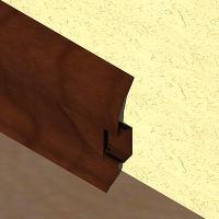 PBC605-Plinta LINECO din PVC culoare cires maroniupentruparchet-60mm