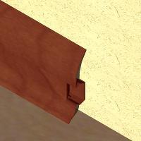 PBC605-Plinta LINECO din PVC culoare mahon pentru parchet -60mm