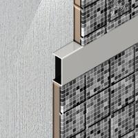 UPD257-Profil U decorativ din aluminiu eloxat,A=10mm,l=25mm