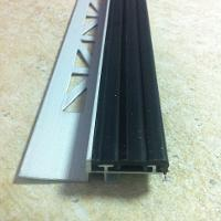 PTIL485-Protectie treapta din aluminiu eloxat cu insertie,2,5m
