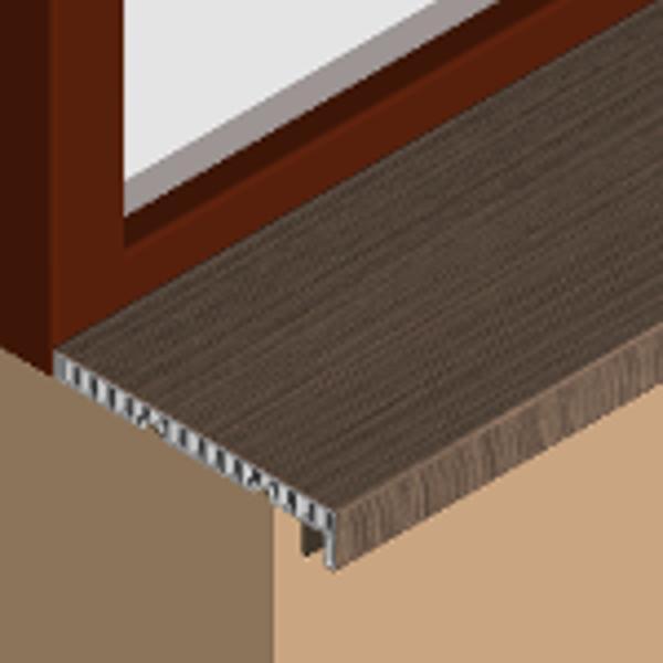 GIS253-Glaf pentru interior din PVC infoliat 250mm