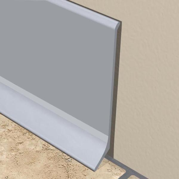 PlintaX-LINE din aluminiu eloxat 60x10mm-KAP600.81