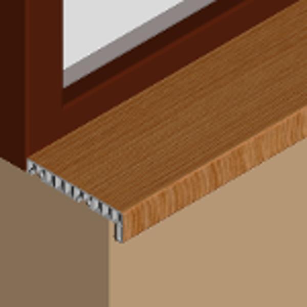 GIS153-Glaf pentru interior din PVC infoliat 150mm
