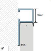 TDP100-Bagheta patrata din aluminiu,10x10mm